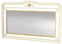 Зеркало интерьерное Мебель-Неман Роза МН-306-08П (белый полуглянец/золотая патина) -