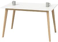 Обеденный стол Halmar Lorrita 120x80 (белый) -