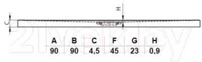 Душевой поддон Riho Basel DC2217 90x90