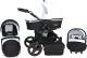 Детская универсальная коляска Genesis Fashion 3 в 1 (черный/белый) -