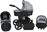 Детская коляска Genesis Fashion 3 в 1 (черный/серый) -