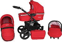 Детская универсальная коляска Genesis Fashion 3 в 1 (красный) -