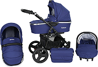 Детская универсальная коляска Genesis Fashion 3 в 1 (темно-синий) -
