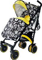 Детская прогулочная коляска Babyhit Rainbow 2017 (Black-Yellow) -