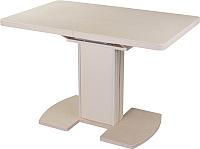 Обеденный стол Домотека Реал ПР КМ (бежевый/крем) -