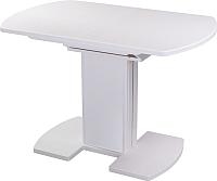 Обеденный стол Домотека Реал ПО КМ (белый/белый) -