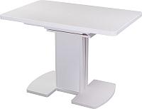 Обеденный стол Домотека Реал ПР КМ (белый/белый) -