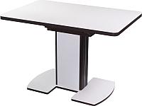 Обеденный стол Домотека Реал ПР КМ (белый/венге) -