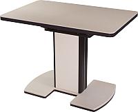 Обеденный стол Домотека Реал ПР КМ (бежевый/венге) -