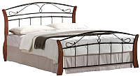 Двуспальная кровать Signal Atlanta 180x200 (античная черешня/черный) -