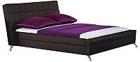 Двуспальная кровать Halmar Bonita 160x200 (коричневый) -
