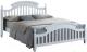 Двуспальная кровать Signal Lizbona 160x200 (белый) -