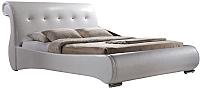 Двуспальная кровать Signal Mokka (белый) -
