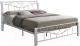 Двуспальная кровать Signal Parma 180x200 (белый) -