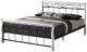Двуспальная кровать Signal Venecja 160x200 (белый/черный) -