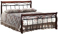 Двуспальная кровать Signal Venecja Bis 140x200 (античная черешня) -