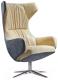 Кресло Halmar Cursor (серый/бежевый) -