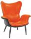 Кресло Halmar Pegas-M (черный/оранжевый) -