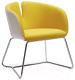Кресло Halmar Pivot (белый/желтый) -