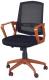 Кресло офисное Halmar Ascot (черно-оранжевый) -