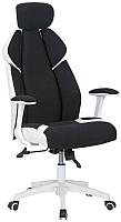 Кресло офисное Halmar Chrono (черно-белый) -