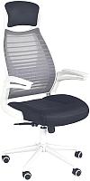Кресло офисное Halmar Franclin (черный/серый) -