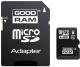 Карта памяти Goodram microSDHC (Class 4) 4GB + адаптер (M40A-0040R11) -