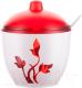 Сахарница Berossi Viola ИК 20112000 (красный полупрозрачный) -