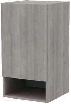 Шкаф навесной 3Dom Фореста РС160 (дуб аутентик серый)