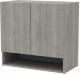 Шкаф навесной 3Dom Фореста РС161 (дуб аутентик серый) -