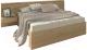 Двуспальная кровать 3Dom Фореста РС001 (дуб бардолино серый) -