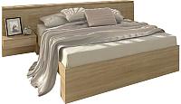 Двуспальная кровать 3Dom Фореста РС002 (дуб бардолино серый) -