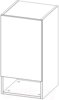 Шкаф навесной 3Dom Фореста РС160 (дуб бардолино серый)