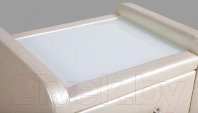 Прикроватная тумба ГрандМанар Калипсо со стеклом (2 фасада, concept perl 13)