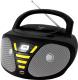 Магнитола BBK BX180U (черный/желтый) -