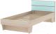 Односпальная кровать 3Dom Слимпи СП003 (акация молдавская/аква) -