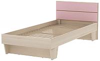 Односпальная кровать 3Dom Слимпи СП003 (акация молдавск/фламинго розовый) -