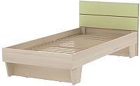 Односпальная кровать 3Dom Слимпи СП003 (акация молдавская/зеленый лайм) -