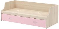 Односпальная кровать 3Dom Слимпи СП005/1 (акация молдавск/фламинго розовый) -