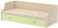 Односпальная кровать 3Dom Слимпи СП005/1 (акация молдавская/зеленый лайм) -