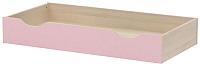 Ящик под кровать 3Dom Слимпи СП511 (акация молдавск/фламинго розовый) -