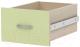 Ящик выдвижной 3Dom Слимпи СП512 (акация молдавская/зеленый лайм) -