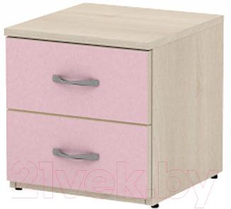 Прикроватная тумба 3Dom Слимпи СП520 (акация молдавск/фламинго розовый)