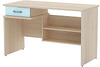 Письменный стол 3Dom Слимпи СП300 (акация молдавская/аква) -