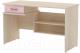 Письменный стол 3Dom Слимпи СП300 (акация молдавск/фламинго розовый) -