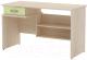 Письменный стол 3Dom Слимпи СП300 (акация молдавская/зеленый лайм) -