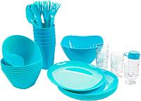 Набор пластиковой посуды Berossi Picnik ИК 06237000 (бирюзовый) -