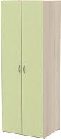Шкаф 3Dom Слимпи СП795 (акация молдавская/зеленый лайм) -