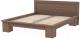 Двуспальная кровать 3Dom Слим-Практик СП001/1 (орех грецкий) -