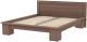 Двуспальная кровать 3Dom Слим-Практик СП007 (орех грецкий) -